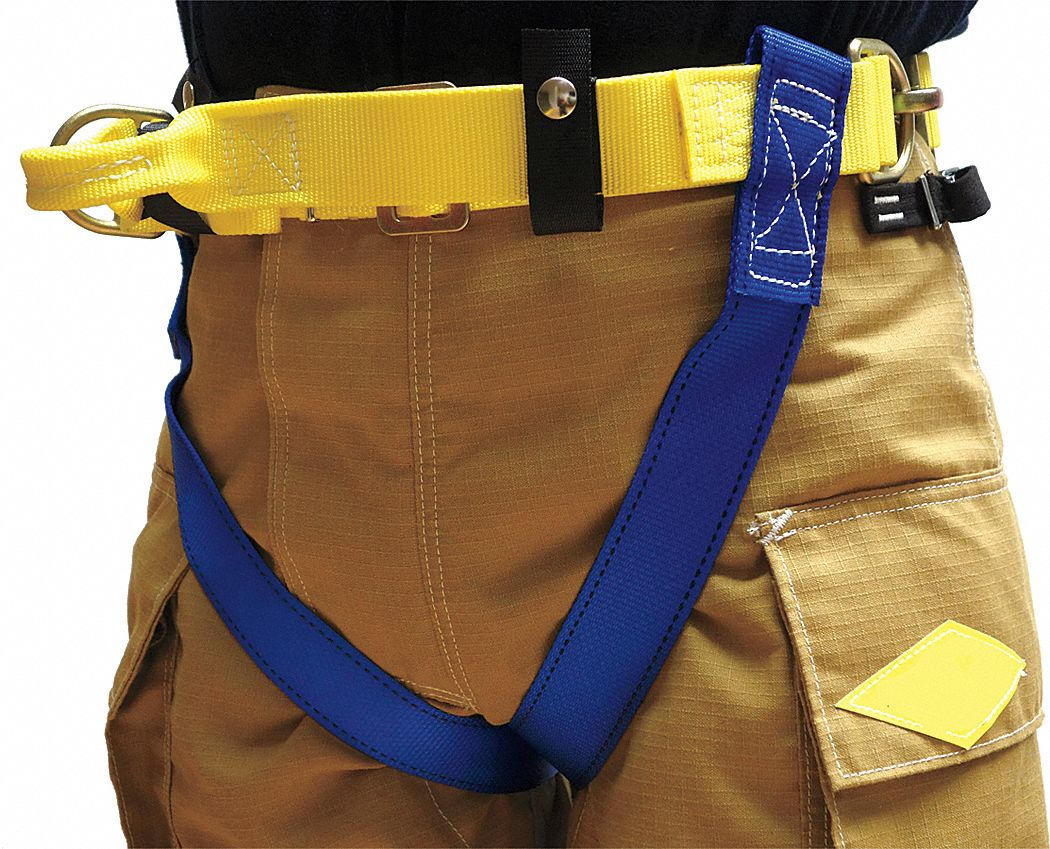 Rescue Harness,  Class II,  Fits Waist Size 30 in to 44 in,  Blue/Yellow