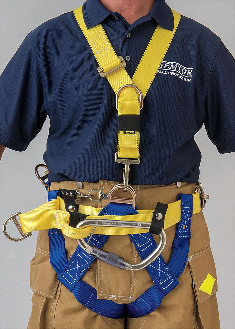 Rescue Harness,  Class III,  Fits Waist Size 36 in to 50 in,  Blue/Yellow