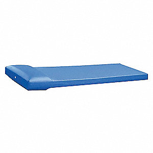Mattress,75inL x 25inW x 4-1/2inH,Blue