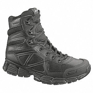 Military/Tactical Tactical Boots, Toe Type: Plain, Black, Size: 13