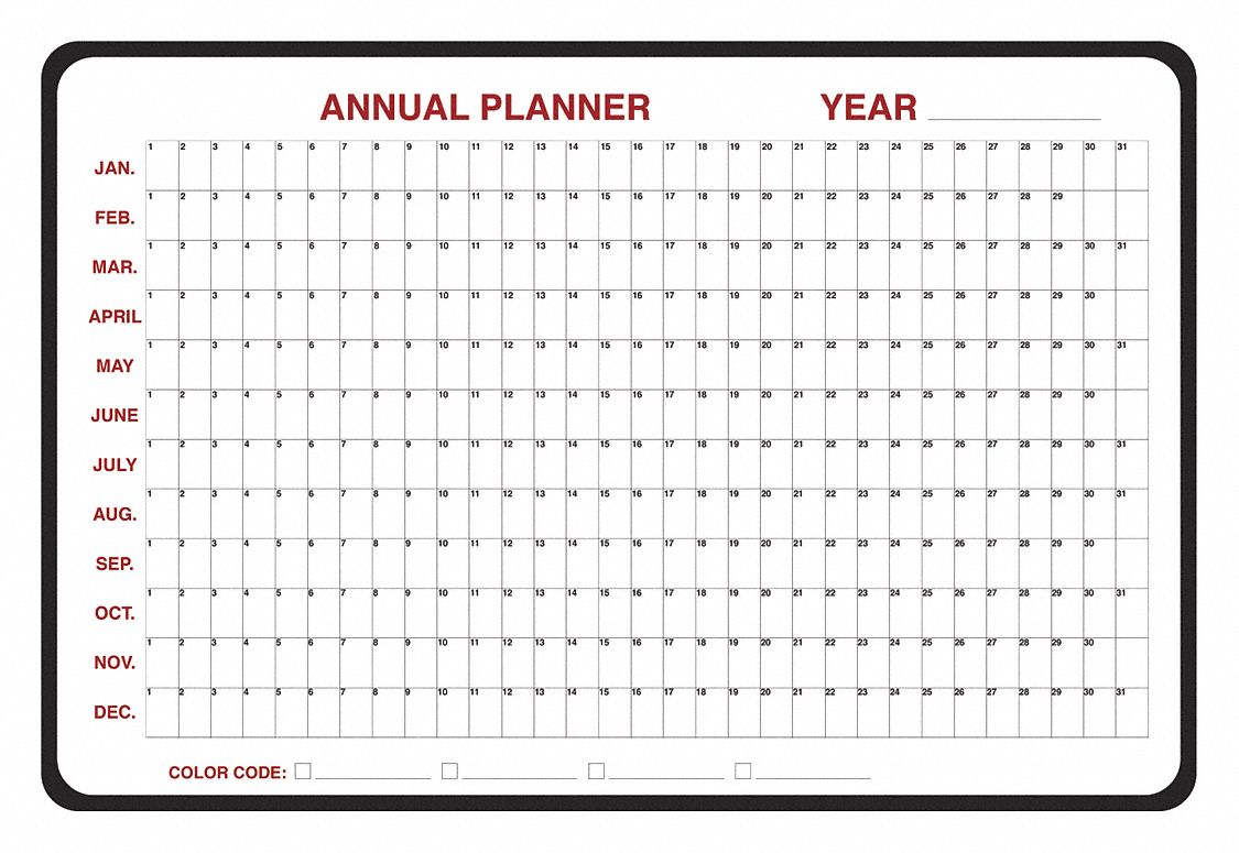 Dry Erase Calendar And Planning Boards