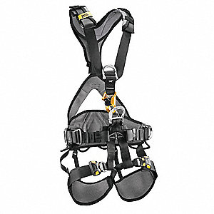 Full Body Harness,M/L,310 lb.,Blk/Yllw