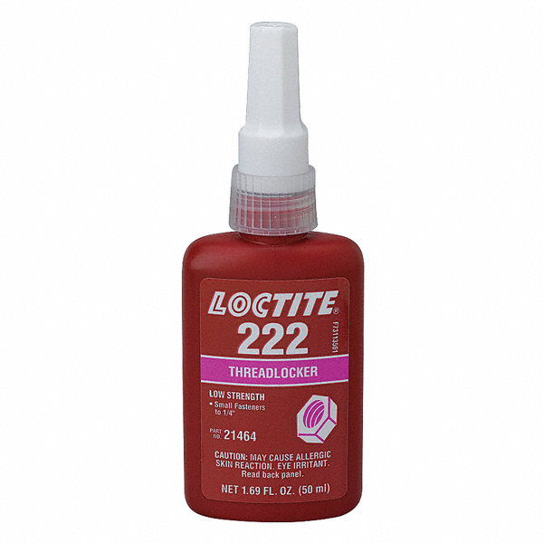 LOCTITE 222 Series Low Strength Threadlocker Purple