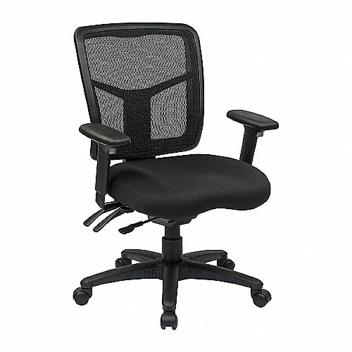 Office star silla para escritorio tela metal carb n for Sillas para escritorio easy