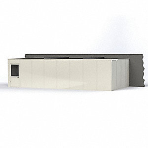 Modular In-Plant Office, Unassembled 3-Wall, 8 ft. Height, 32' Width, 16 ft. Depth