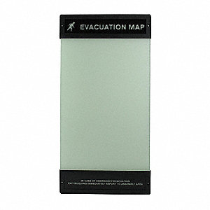 Evacuation Map Holder, 17 in. x 11 in.