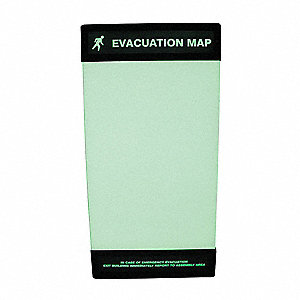 Evacuation Map Holder,17 in. x 11 in.