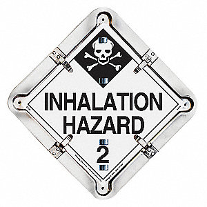 "13-1/2"" x 13-1/2"" Aluminum Placard, Black/White"