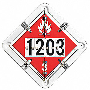 "13-1/2"" x 13-1/2"" Aluminum Placard, White/Red"