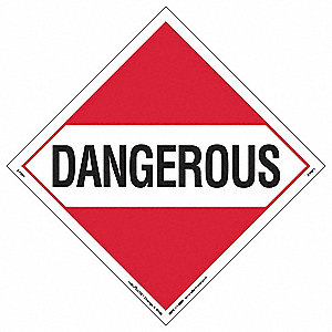 Placard,10-3/4inx10-3/4in,Dangerous,PK10