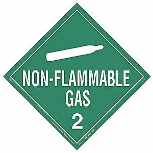"10-3/4"" x 10-3/4"" Class 2 Rigid Vinyl Placard, White/Green"