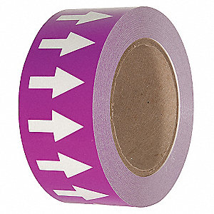 "Arrow Tape, Purple/White, Polyethylene, 2"" x 108 ft."