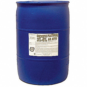 Fire Suppression Foam, 55 gal., Proportioning 3% x 6%, For Use With Foam Dispensing Hardware and Sys