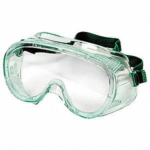 Uncoated Protective Goggles, Clear Lens Color