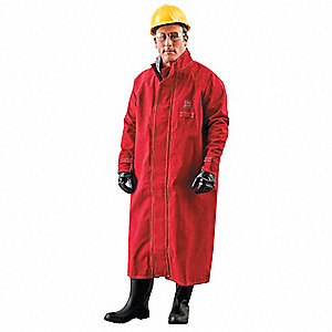 Chemical Resistant Coat,Red,XL