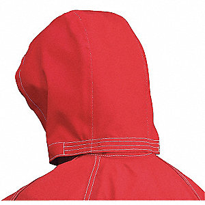 Chemical Resistant Hood,Red
