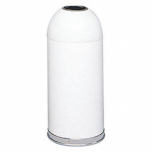 Trash Can,Round,15 gal.,White