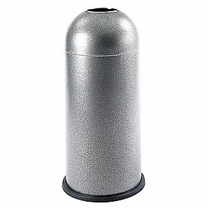 Trash Can,Round,15 gal.,Black