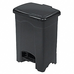 Wastebasket,Rectangular,4 gal.,Black