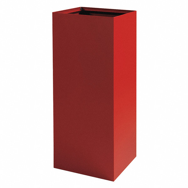 safco recycling container red 37 gal 19ya60 2983bg grainger