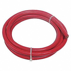 10 ft. Neoprene Welding Cable with 4 AWG Wire Size and Max. Amps of 60, Red
