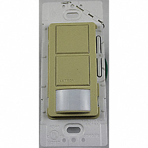 Wall Switch Box Hard Wired Occupancy Sensor, 900 sq. ft. Passive Infrared, Ivory