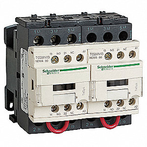 24VDC NEMA Magnetic Contactor; No. of Poles: 3, Reversing: Yes, 9 Full Load Amps