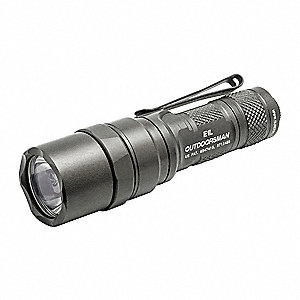 Industrial LED Handheld Flashlight, Aluminum, Maximum Lumens Output: 45, Green