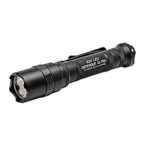 Tactical LED Handheld Flashlight, Aluminum, Maximum Lumens Output: 500, Black