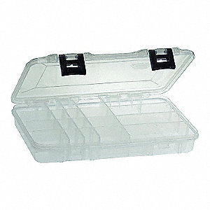 "Compartment Box, Clear, 1-3/4""H x 7-1/4""L x 11""W, 1EA"