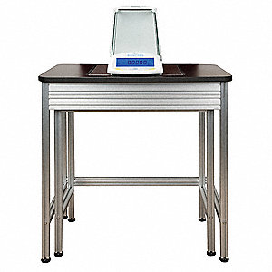 Anti-Vibration Table,Silver and Black