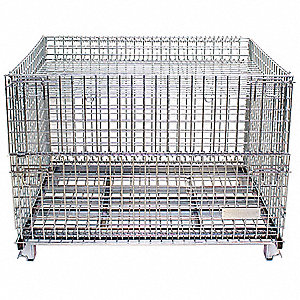 Collapsible Container,1500 lb.,Steel
