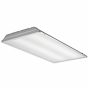 LED Recessed Troffer, LED Replacement For 3 Lamp LFL, 3500K, Lumens 4800, Rated Life 50,000 hr.