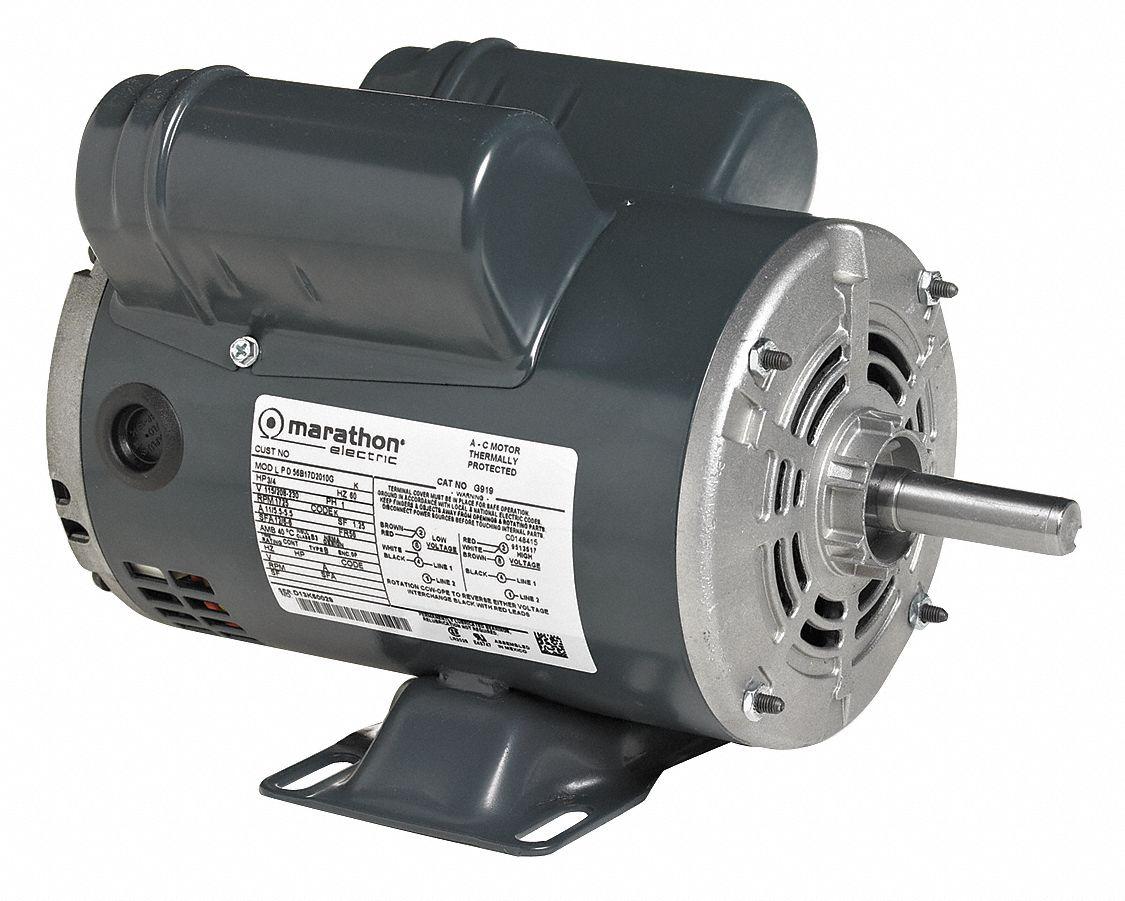MARATHON MOTORS Air Compressor Motor5 HP200A 39L537056B34D5302