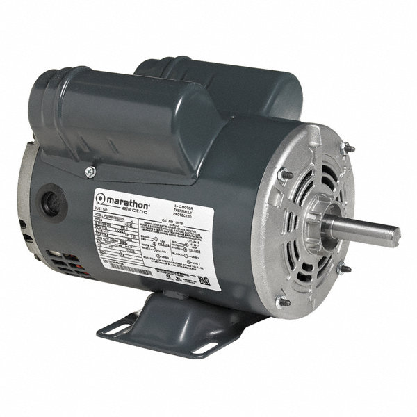 marathon motors 3 hp air compressor motor capacitor start