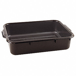 "22-1/2"" x 15-3/4"" x 5"" Polypropylene Bus Tub, Black"