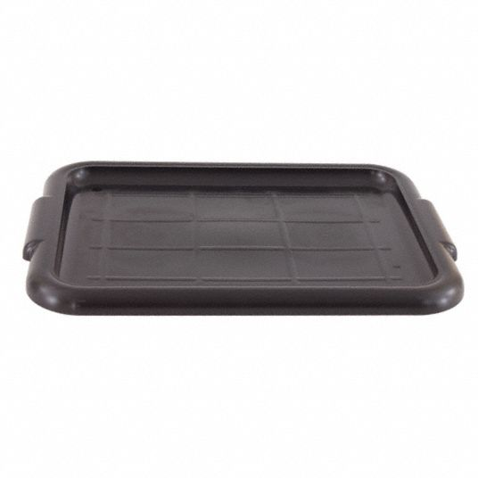 22 1/2 in x 15 3/4 in x 1 in Polypropylene Bus Tub Lid, Black