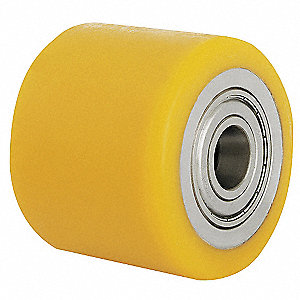 "3-1/8"" Caster Wheel, 835 lb. Load Rating, Wheel Width 2-1/8"", Polyurethane, Fits Axle Dia. 3/4"""