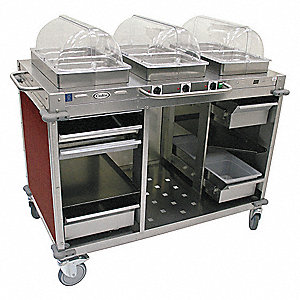 Buffet Cart,Hot,Cherry,Stainless Steel