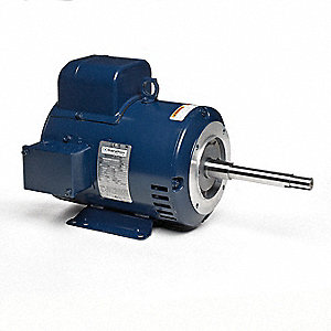 5 HP Close-Coupled Pump Motor,Capacitor-Start,1730 Nameplate RPM,230 Voltage,213JP