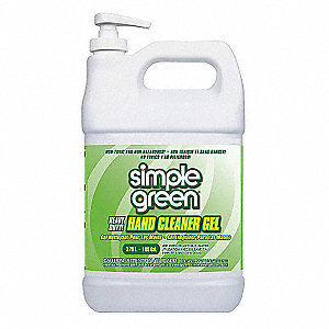 Sassafras Gel Hand Cleaner, 1 gal. Pump Bottle, None, 1 EA