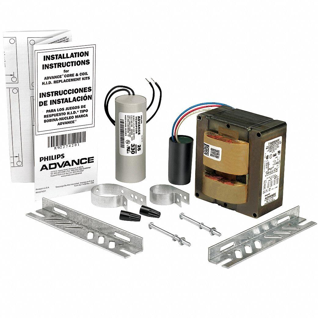 PHILIPS ADVANCE Metal Halide HID Ballast Kit, 400 Max. Lamp Watts, 120/208/240/277  V, Probe Ballast Start Type - 1A029|71A6071-001D - Grainger
