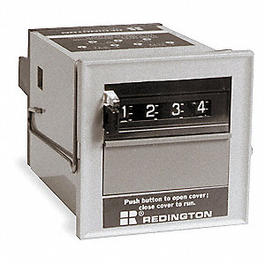 Predetermining Electromechanical Counter, Panel Mounting, Number of Digits: 4, Max. Counts per Secon