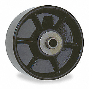 "6"" Caster Wheel, 1400 lb. Load Rating, Wheel Width 2"", Cast Iron, Fits Axle Dia. 1/2"""