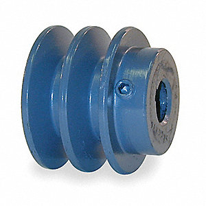 "1/2"" Fixed Bore Standard V-Belt Pulley, For V-Belt Section: 3L, 4L, A, AX"
