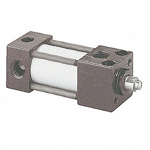 "1-1/8"" Air Cylinder Bore Dia. with 24-1/2"" Stroke Aluminum , Side Tapped/Sleeve Nut Mounted Air Cyli"