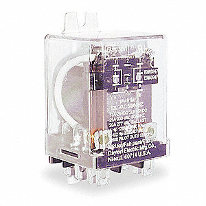 Enclosed Power Relay, 8 Pins, 120VAC Coil Volts, 25A @ 300VAC, 13A @ 28VDC Contact Amp Rating (Resis