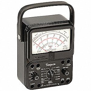 Analog Multimeter, 1000 Max. AC Volts