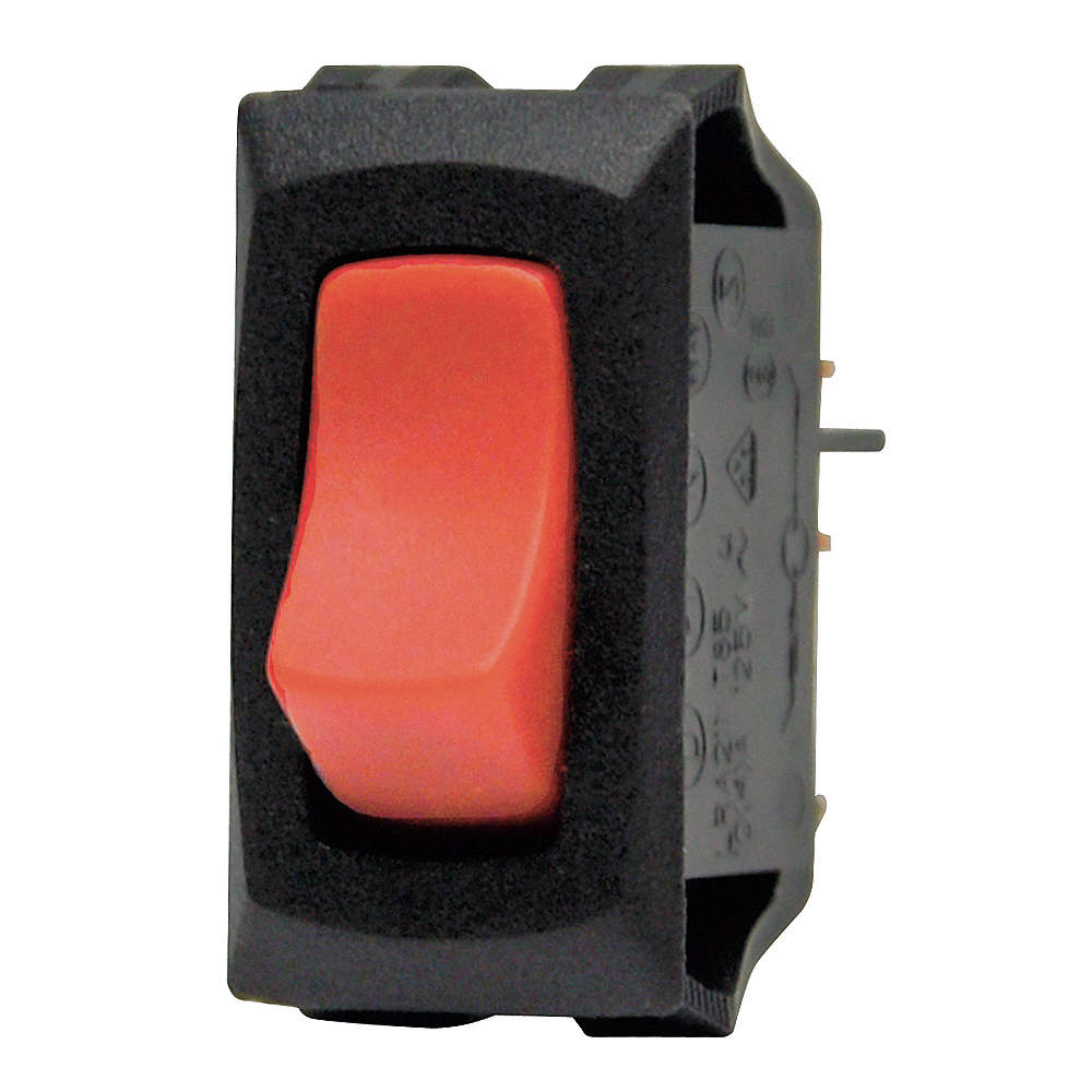 CARLING TECHNOLOGIES Lighted Rocker Switch, Contact Form: SPST ...