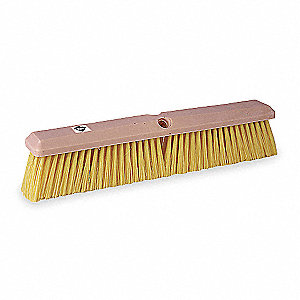 "Synthetic Push Broom, Block Size 18"", Foam Block Material"